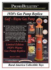 """Gulf  12"""" Wayne Gas Pump by GearBox Collectibles"""