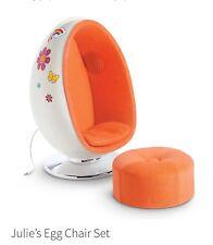 American Girl Doll Julie Egg Chair Set NIB Brand New in Box