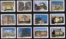 France 2015 Beautiful Townhalls of France Complete Set of Stamps P Used S/A