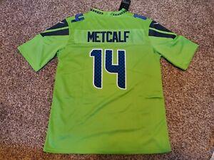 DK Metcalf #14 Seattle Seahawks Vapor Untouchable Color RUSH Jersey Men's XL