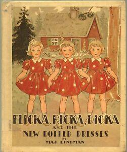 FLICKA RICKA DICKA and the NEW DOTTED DRESSES MAJ LINDMAN Albert Whitman Ex-Lib