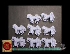 8 Chevaux de la quête Bretonniens endommagés Warhammer 9th Age KOW AOS 28mm