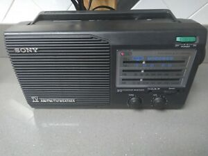 Sony ICF-34 Portable Radio 4 Band AM/FM/Weather/TV Battery or Plug in Operation