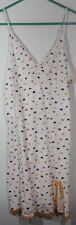 Nwt Vanity Women's Sleeveless White Butterfly Nightgown Size M (z)