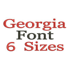 Georgia Alphabet Embroidery Fonts Machine Embroidery Design IMFCD20