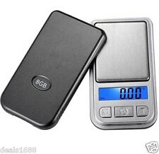 Digital Electronic LCD Scale Balance Pocket Weighing Jewelry Gram 0.01g 200g
