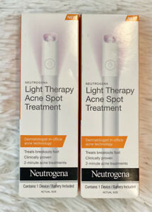 2x Neutrogena Light Therapy Visibly Clear Acne Spot Treatment Stick BB 12/31/20