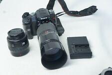 Sony Alpha A100 10.2MP Digital SLR Camera with 28-70mm & 70-210mm lenses