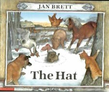 THE HAT by Jan Brett (NEW Paperback: Scandinavian Winter Farm Animals, Hedgehog)