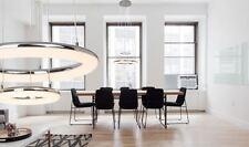 Pendelleuchte Hängelampe DONUT chrom weiß inklusive LED dimmbar 2300 Lumen NEU