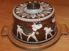 plateau a fromage en céramique suisse KOHLER BIEL poterie alpages cloche vache