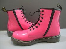 NWOB Dr. Martens Doc Martens Pink Lace Up Ankle Boots Side Zipper 5 Sale!!