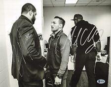 Michael Chandler & Shawne Merriman Signed 11x14 Photo BAS COA Bellator Autograph