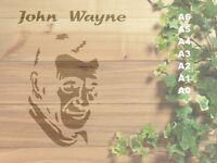 John Wayne Stencil 350 micron Mylar not thin stuff#Fam07