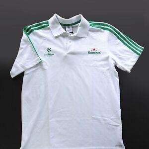 Heineken Beer White and Green adidas USFA Champions League Mens M Soccer Polo