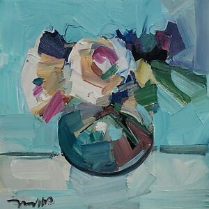 JOSE TRUJILLO Oil Painting IMPRESSIONISM STILL LIFE COLLECTIBLE ARTWORK SIGNED