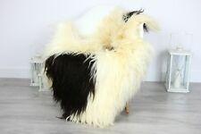 Real Natural Icelandic SHEEPSKIN RUG Fur Throw Genuine Sheep Skin Beige #sheb62