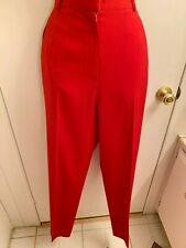 NWOT AUSTIN REED 100% WORSTED WOOL XMAS RED WOMEN'S DRESS PANTS  12