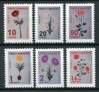 Turkey Flowers Stamps 2019 MNH Definitives Nature Flora 6v Set