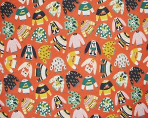 Large Fat Quarter Little Johnny Christmas Jumpers 100% Cotton Fabric