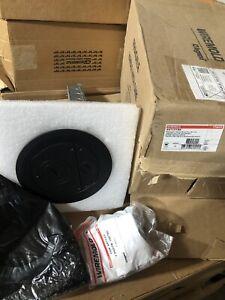 "Legrand Wiremold 6ATCFFBK Furniture Feed Pokethrough Assembly Black 6"""