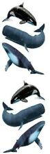 Mrs Grossman`s Whales Foil 2011 Stickers Orca Blue Sperm