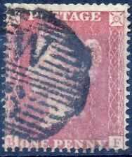 1857 QV SG36 1d Red Star B-F C11 (Plate 36) Perf 16 Large Crown