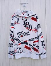 XXL MENS Tommy Hilfiger ALL PRINT Logo Graphic Hoodie...