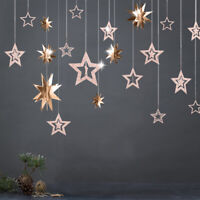 Star Hanging Paper Garland Wedding Party Birthday Baby Shower Table Decoration--