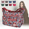 Nylon Messenger Bags Multi Pocket Cross Body Shoulder Bag Ladies Travel Purse