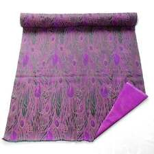 by the meter cbs-603 Chinese brocade material violet purple peacock feather