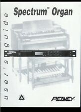 Rare Original Factory Peavey Spectrum Organ Sound Effects Module Owner's Manual