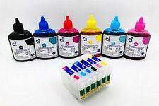 RICARICABILI Cartuccia di inchiostro KIT + 600 ML INCHIOSTRO COMPATIBILE EPSON P50 R285 R265 RX585 NON-OEM