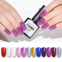 LILYCUTE 8ml Holographic Glitter Gel Polish Shimmer Soak Off UV Nail Gel Varnish