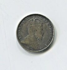 1902 Canadian Five Cent Silver Coin Fine (CTL1118)