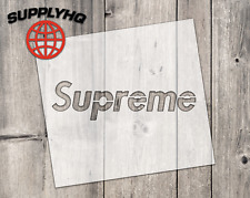 Supreme mylar stencil | reusable | for wood food t shirt shoes painting airbrush
