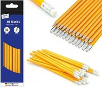 1-100 HB Pencils With Eraser Top Office School Craft Art Drawing Break-Resistant