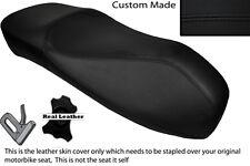 Negro Stitch Custom encaja Piaggio Vespa Gt S 125 250 300 Curvy Alta doble cubierta