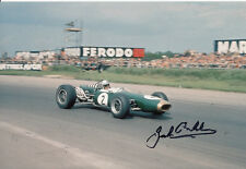 Jack Brabham 1966 Hand Signed Brabham Repco Photo 12x8.