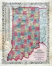 167 maps of Indiana state Panoramic genealogy old History Dvd