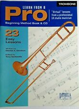 Learn Trombone From a Pro, Book & Cd, 23 Easy Lessons, Santorella Publication