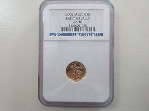 2008 , Eagle G5$ , Early Release , MS 70 , NGC