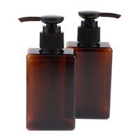 2 Pcs Empty Shampoo Conditioner Travel Bottles w/ Lotion Pump, BPA-free Plastic