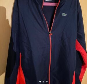 lacoste navy blue tracksuit small