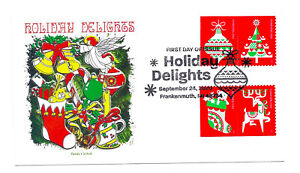 5526-29 Holiday Delights, Christmas 2020, on one Panda Cachets, pictorial FDC