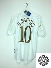 Italy BAGGIO #10 04/06 *BNWT* Away Football Shirt (M) Soccer Jersey Puma Euro