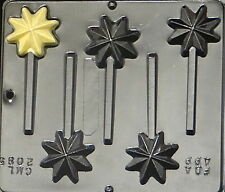 Christmas Star Lollipop Chocolate Candy Mold Christmas  2085 NEW