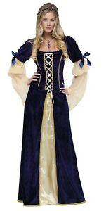 Deluxe Maiden Faire Costume Fancy Dress Medieval Renaissance Princess Womens