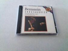 "LEONARD BERNSTEIN ""SHOSTAKOVICH SYMPHONIES No 5 & 9"" CD 9 TRACKS COMO NUEVO"