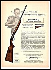 1960 Browning .22 Automatic Rifle Print Ad Old Gun Advertising